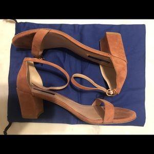 Stuart Weitzman Simple sandal Heel in Desert Rose